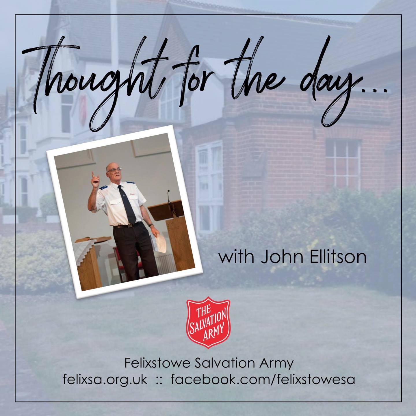 Thought for the Day with John Ellitson