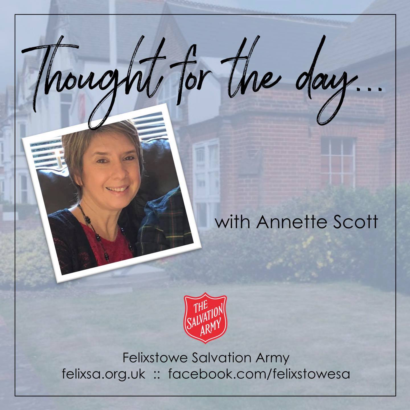 Thought for the Day with Annette Scott