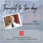 Thought for the Day with Major Derek Jones