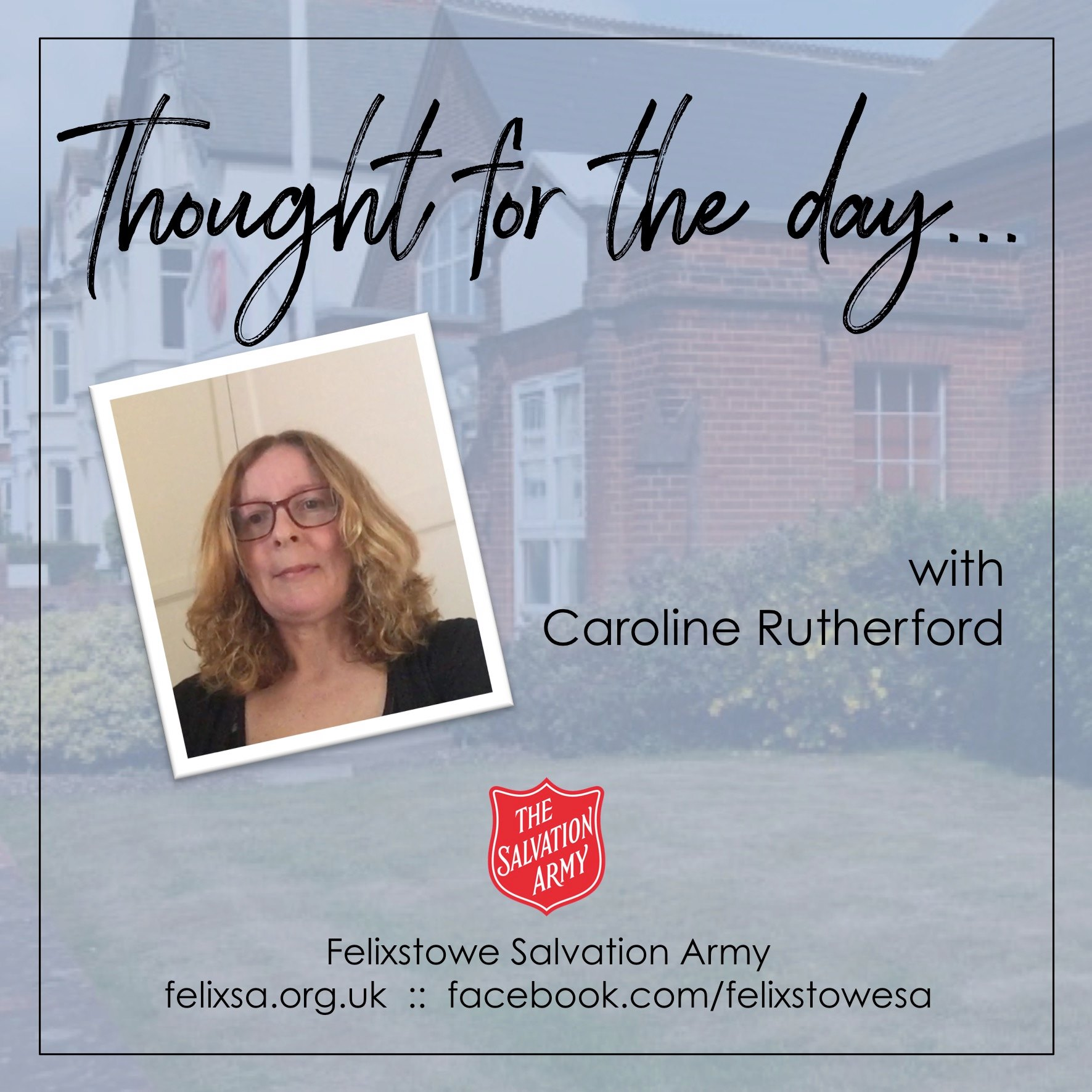 Thought for the Day with Caroline Rutherford