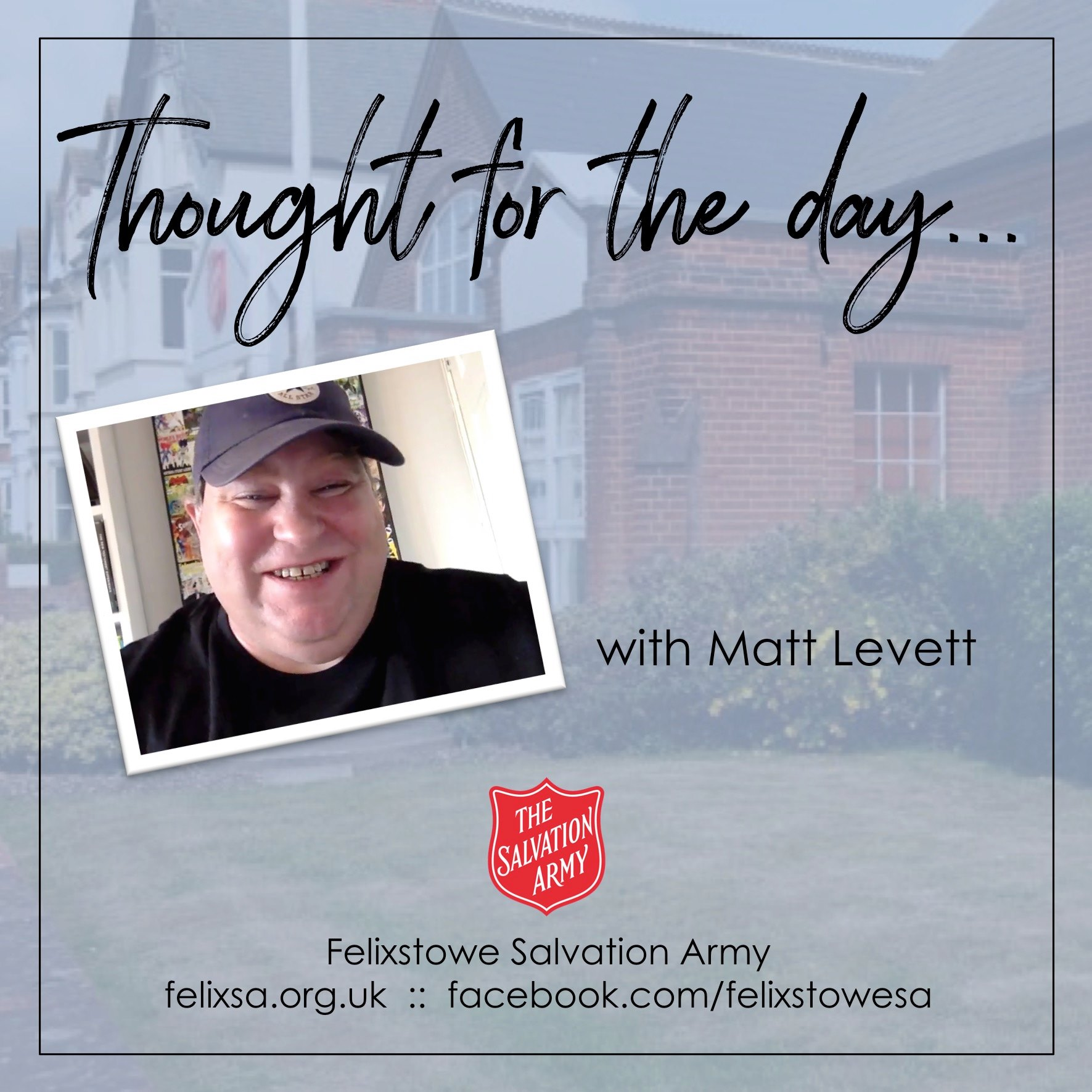 Thought for the Day with Matt Levett