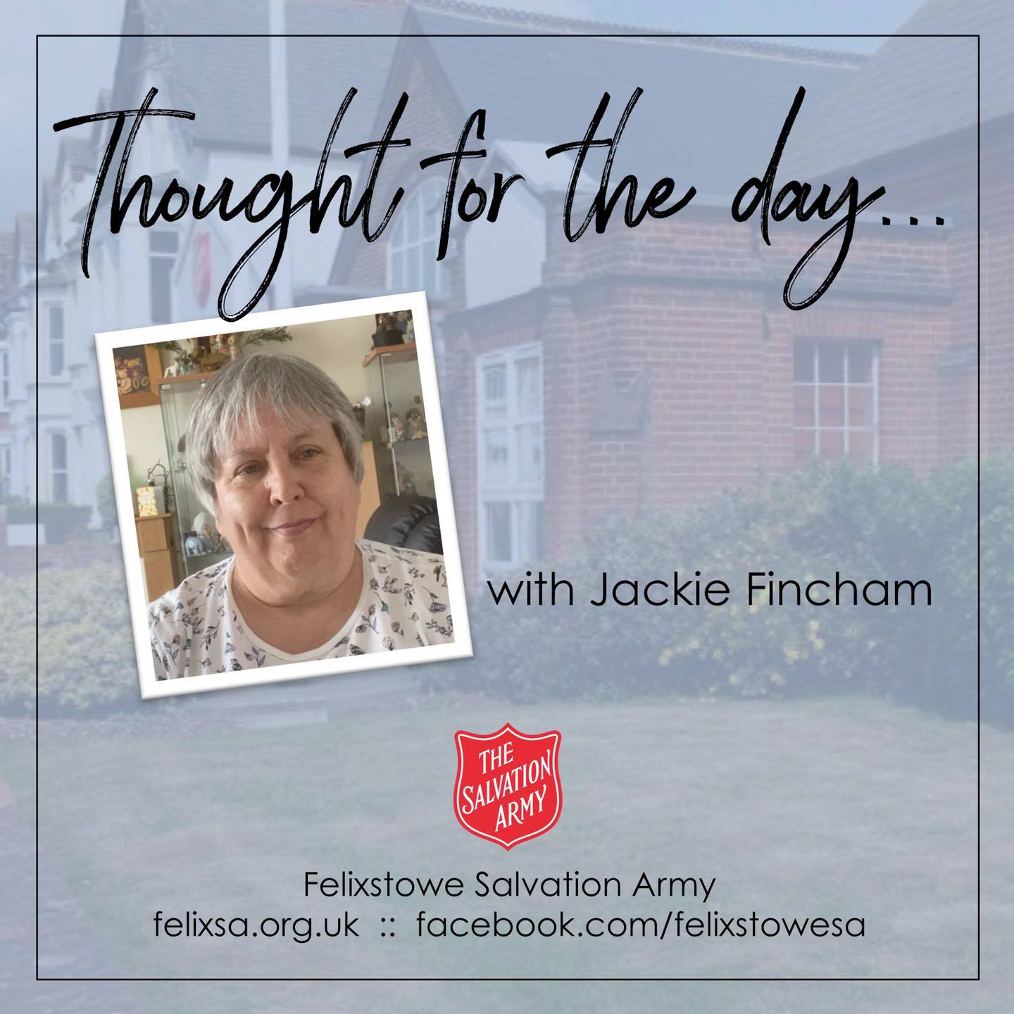 Thought for the Day with Jackie Fincham