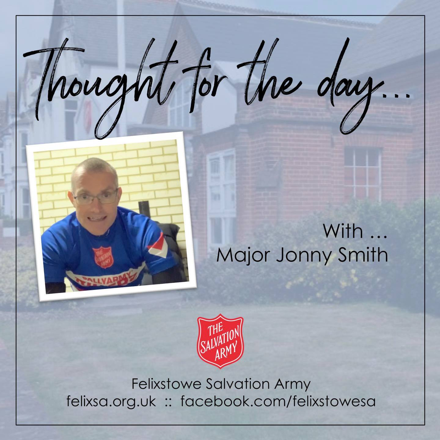 Thought for the Day with Major Jonny Smith