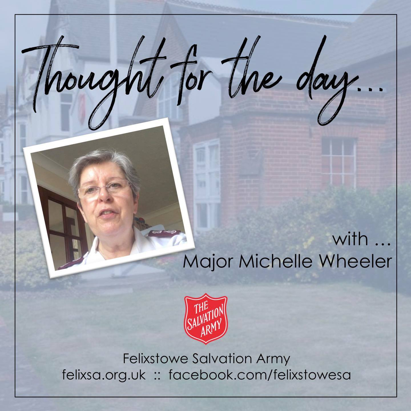 Thought for the Day with Major Michelle Wheeler