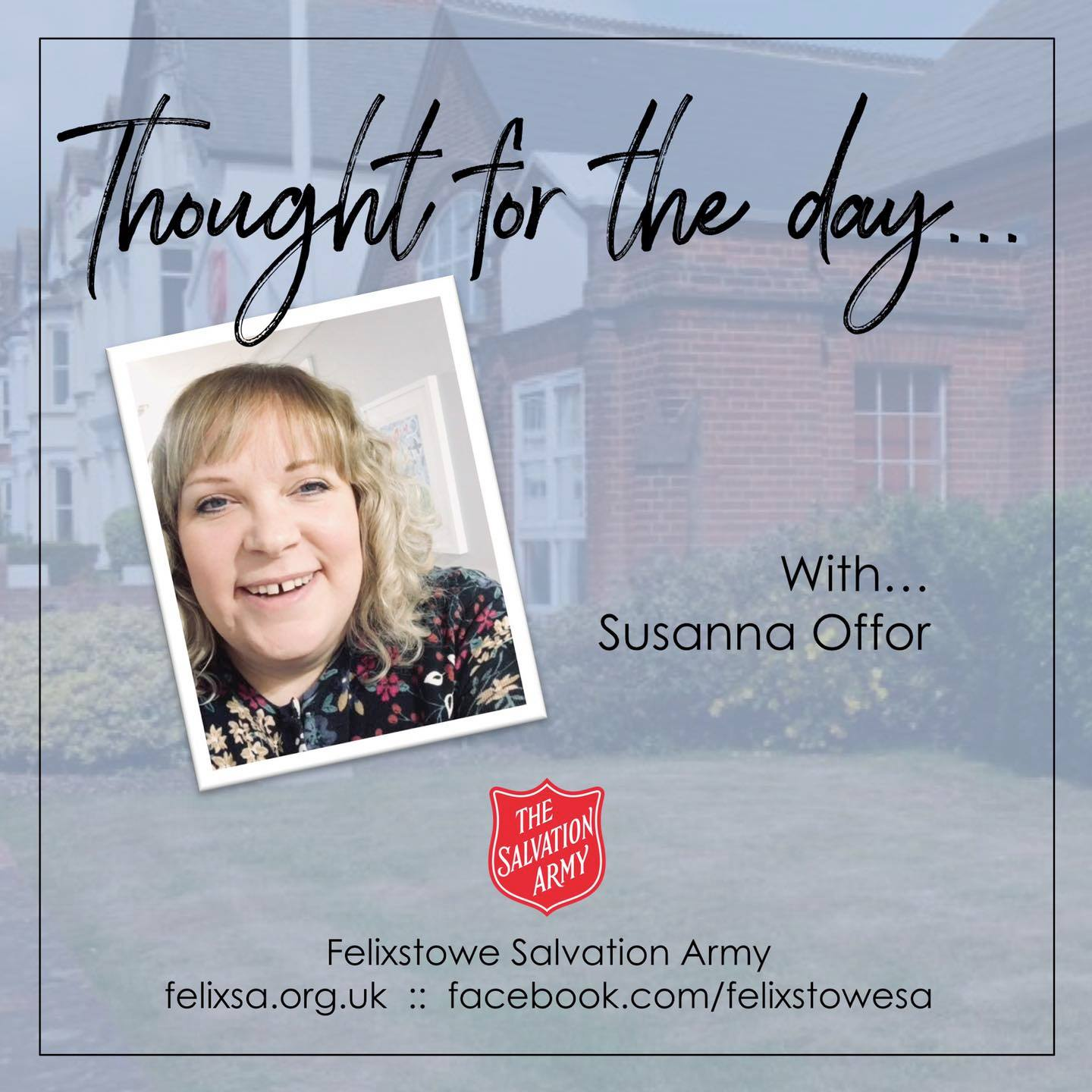 Thought for the Day with Susanna Offor