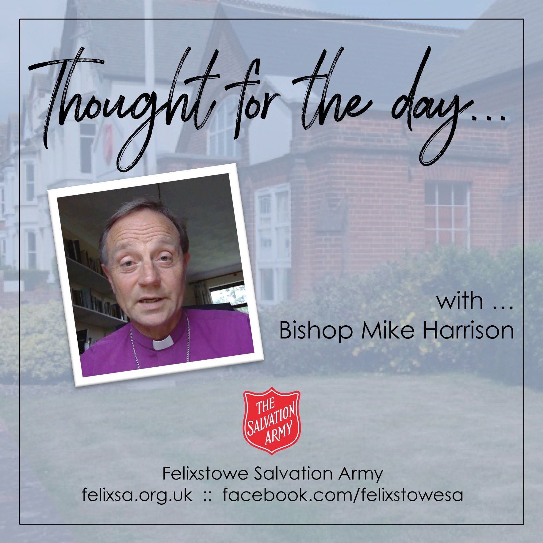 Thought for the Day with Bishop Mike Harrison (Bishop of Dunwich)