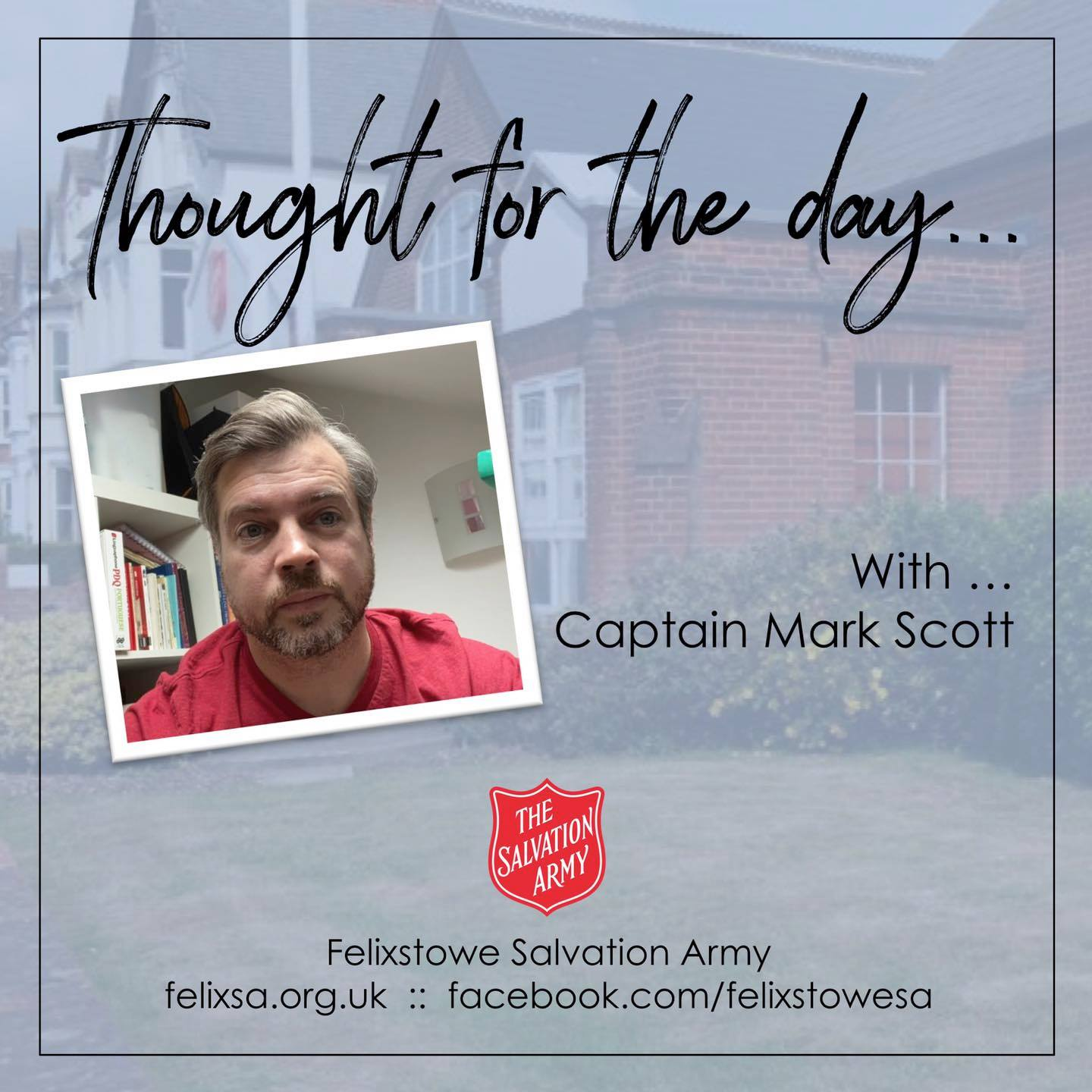 Thought for the Day with Captain Mark Elsey