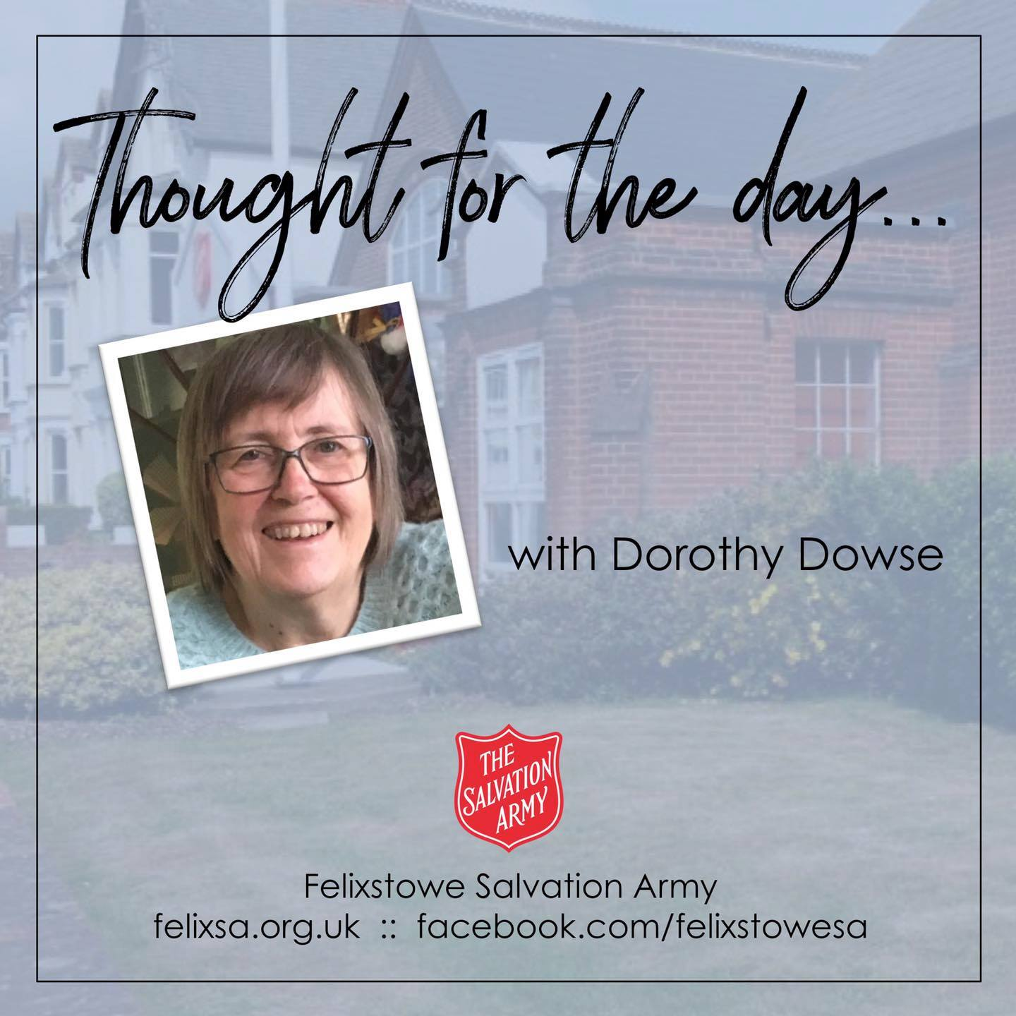 Thought for the Day with Dorothy Dowse